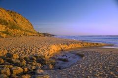 海滩ericeira 免版税库存照片