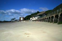 海滩folkestone肯特 免版税库存照片
