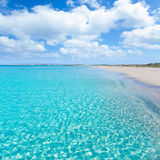 海滩formentera llevant tanga绿松石 免版税库存照片