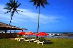 海滩goa印度 免版税图库摄影