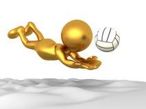 海滩goldman先生volleyball 免版税图库摄影