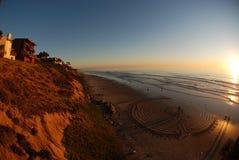 海滩grandview迷宫 库存照片
