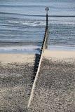 海滩Groyne 免版税库存照片