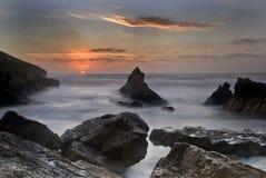 海滩guincho 图库摄影
