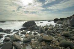 海滩hammonasset公园状态 免版税图库摄影
