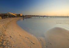海滩hurghada 图库摄影