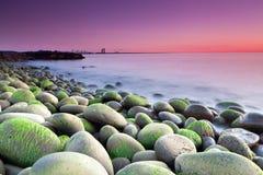 海滩hvaleyri 库存图片