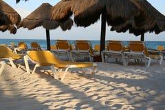 海滩iberostar lindo玛雅人墨西哥里维埃拉 库存照片