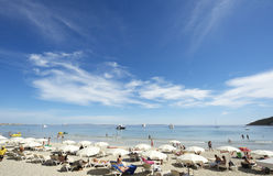 海滩ibiza夏天 库存照片