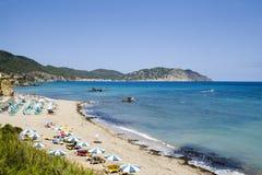 海滩ibiza 免版税库存照片