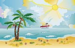 海滩ii 免版税库存图片