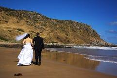 海滩iii婚姻 库存照片