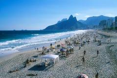海滩ipanema 免版税库存图片