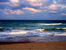 海滩jensen海浪 免版税图库摄影