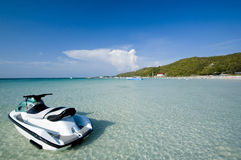海滩jetski 库存照片