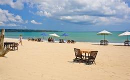海滩jimbaran 免版税库存图片