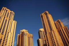 海滩jumeirah住宅 图库摄影