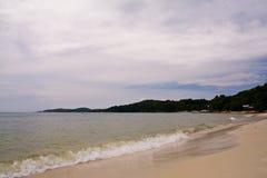 海滩kaew sai 免版税图库摄影