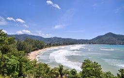 海滩kamala普吉岛泰国 图库摄影