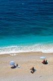 海滩kaputas地中海土耳其 免版税库存照片