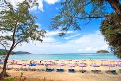 海滩kata普吉岛 免版税库存照片