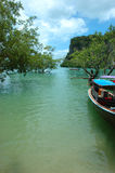 海滩krabi热带的泰国 库存照片