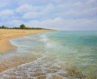 海滩krapets 向量例证