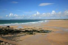 海滩lahague siouville 库存图片