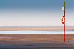海滩langeoog救护设备 免版税库存照片
