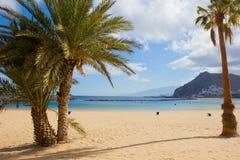 海滩las Teresitas,特内里费岛 免版税库存图片
