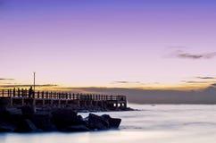 海滩lobang tanjung 免版税库存图片