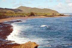 海滩makapu岩石u 库存照片