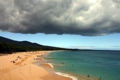 海滩makena 免版税库存照片