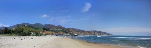 海滩malibu全景 图库摄影