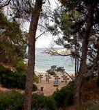 海滩mallorca 免版税库存照片