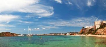 海滩mallorca nous门户 库存照片