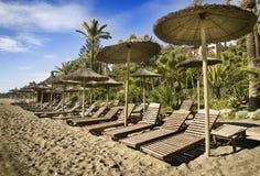 海滩marbella 免版税库存照片