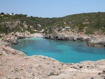 海滩menorca西班牙 免版税图库摄影