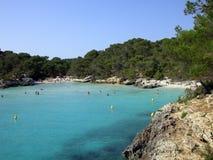 海滩menorca 免版税库存图片