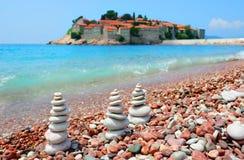 海滩montenegro 库存照片