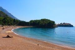 海滩montenegro 免版税库存照片