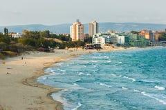 海滩nessebar的保加利亚 免版税库存图片