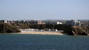 海滩newquay tolcarne 库存照片