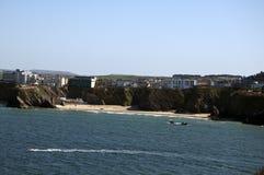 海滩newquay towan 库存照片