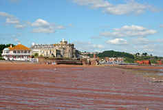 海滩paignton 免版税图库摄影