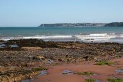 海滩paignton 免版税库存照片