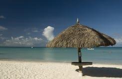 海滩palapes 库存图片
