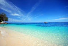 海滩panaroma 免版税图库摄影