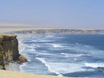 海滩paracas秘鲁 免版税库存图片