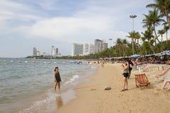 海滩pattaya泰国wongamart 库存图片